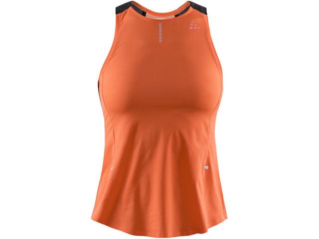 Craft Nanoweight Koszulka do biegania bez rękawów Kobiety pomarańczowy